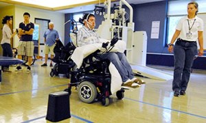 Jason Disanto pilots a wheelchair using the tongue drive system